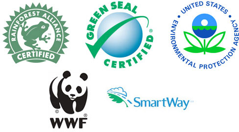 Certified by Rainforest Alliance, Green Seal, US EPA, World Wildlife, and SmartWay